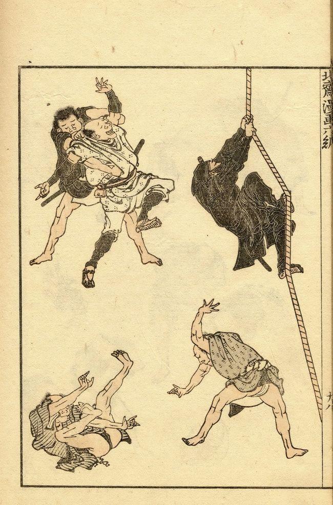 Hokusai Manga, Vol 6. • Hokusai Manga(北斎漫画), 1814. ; Hokusai Katsushika (1760~1849) • ภาพพิมพ์ไม้ของ โฮกุไซ คัทซุชิกะ (พศ.2303~พศ.2392) : จากหนังสือ 'โฮกุไซ มังงะ' (北斎漫画) พิมพ์ประมาณปี พศ.2357
