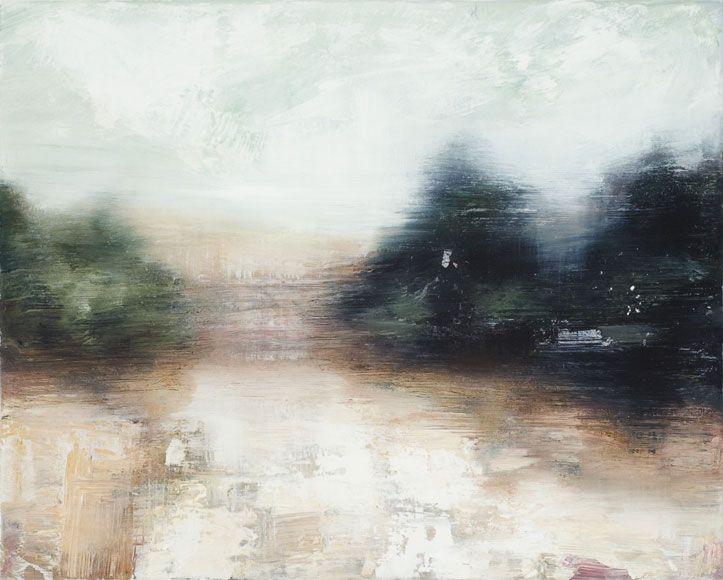 Joanna Logue: Track – Crookwell I 2009  oil on canvas 40 x 50cm – S O L D