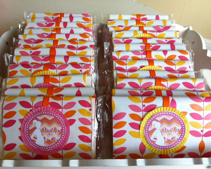 Baby Shower Party Favors Ready To Pop ~ Custom ready to pop baby shower favor circles