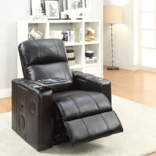 Bluetooth Leather Chair Home Gaming Theatre Seat Recliner