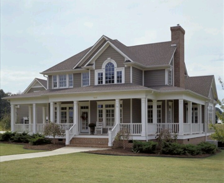 Wrap around porch... Dream Homes Pinterest