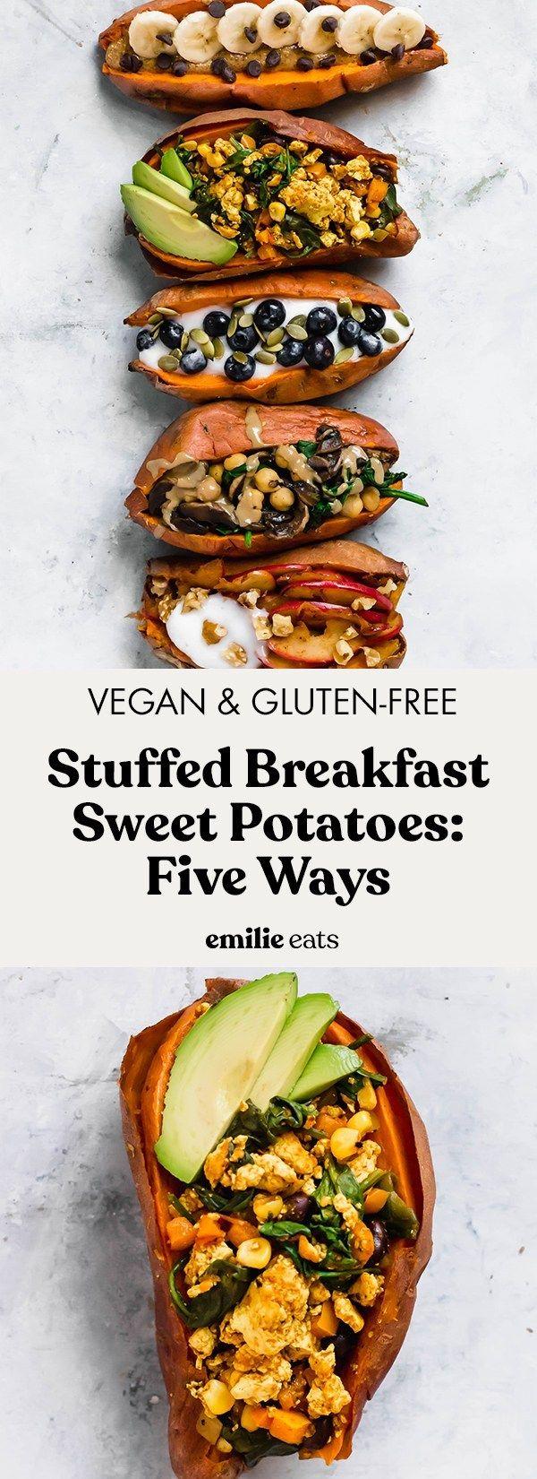 Stuffed Breakfast Sweet Potatoes: 5 Ways