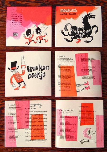 Esther Aarts illustrations & CD design for Moustash.