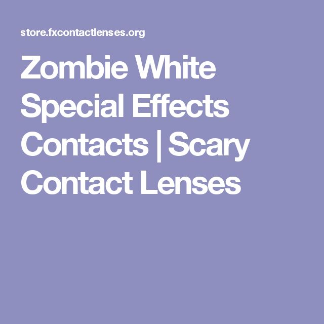 Zombie White Special Effects Contacts | Scary Contact Lenses