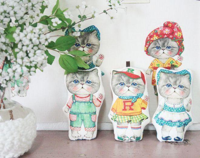 mini/petit/cat/persian/himalayan/pet/pillow/fabric/princess/dress/cushion/linen