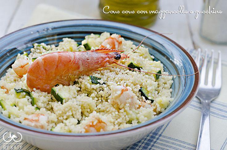 Cous cous con mazzancolle e zucchine or