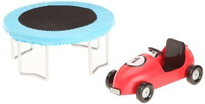 Lundby #smaland #dollhouse #trampoline + pedal car,  View more on the LINK: http://www.zeppy.io/product/gb/2/322222494975/