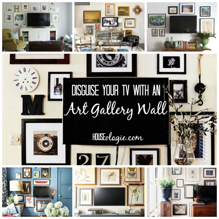 TV Gallery Wall Inspiration | lots of ideas for decorating around the TV!
