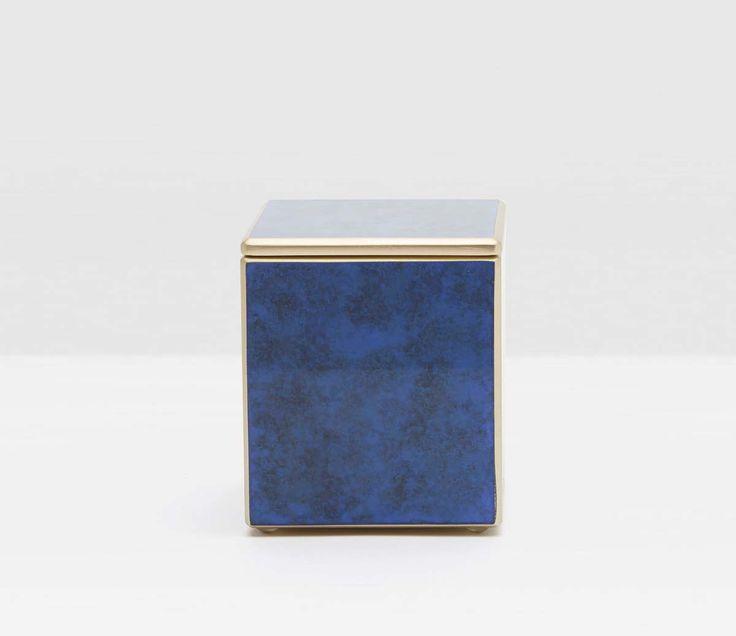 Pigeon & Poodle Reims Canister in Blue Jewel Glass from The Well Appointed House