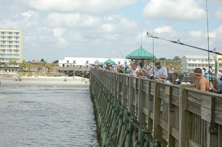 17 best images about charleston county fishing piers on for Folly beach fishing