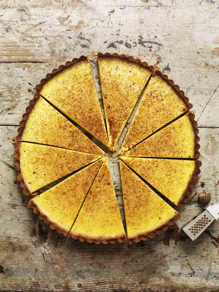 ... maple custard tart ...