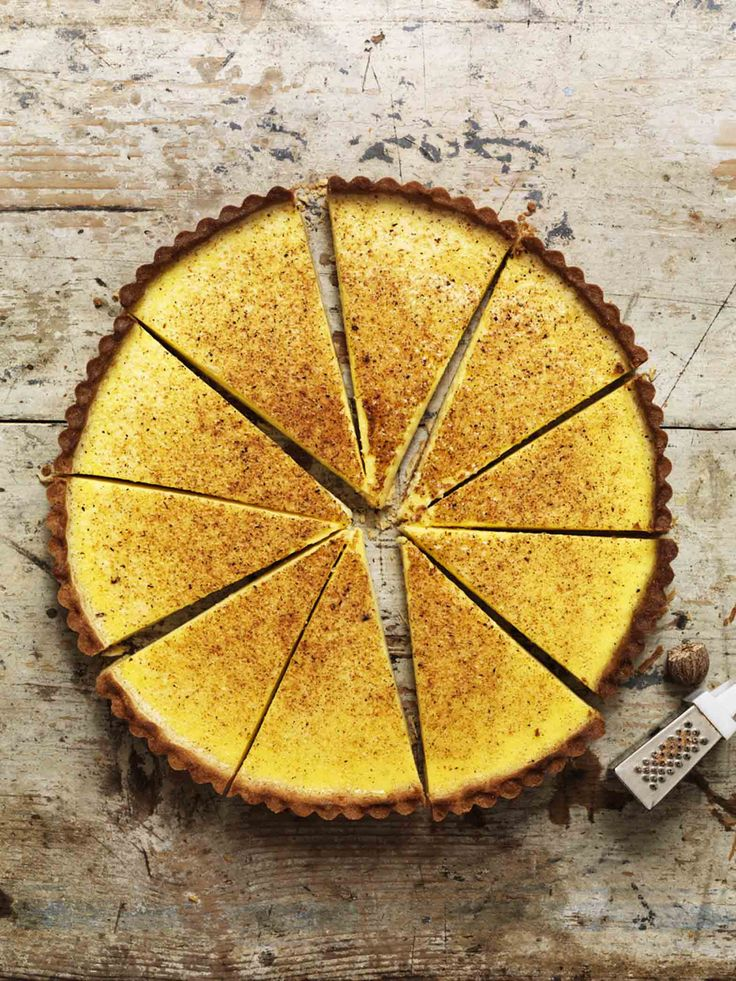 ... maple custard tart ...