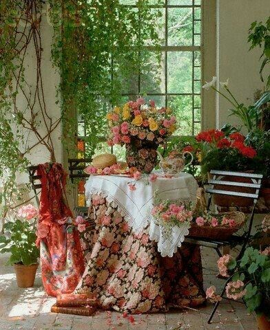 Desayunador jardín