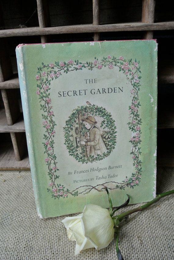 Vintage The Secret Garden Book Illustrated by Tasha Tudor
