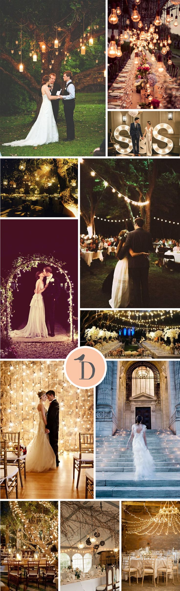 Lighting can be an absolute key to your wedding's style and atmosphere. It is a great place to go wild and create a real statement without blowing the budget. We've collected some stunning wedding lighting inspiration for you, from fairy lights to lanterns
