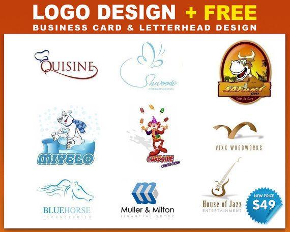 Custom Logo Design Custom Made   free business card by Logolane, $49.00