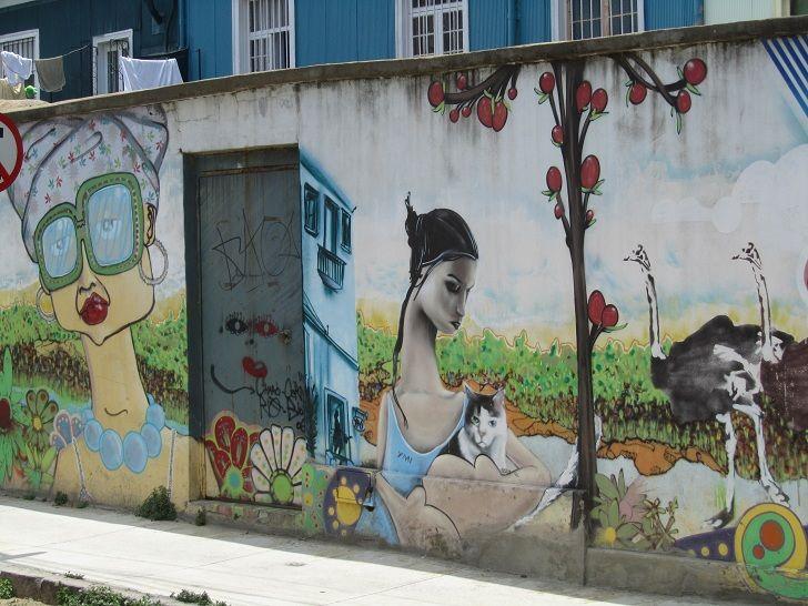 Graffiti in Valparaiso, Chile