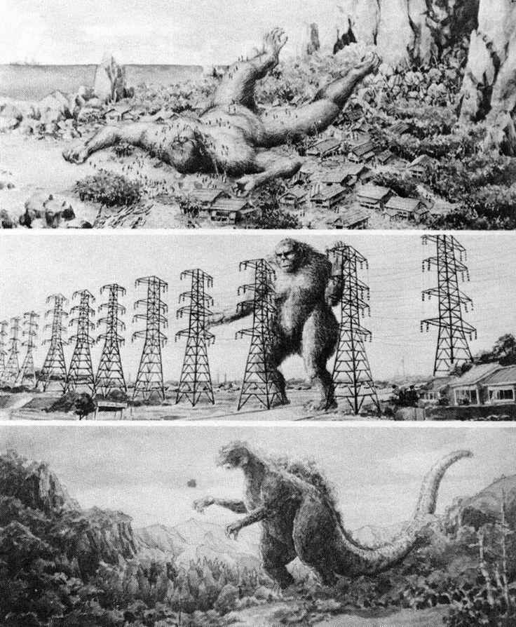King Kong vs. Godzilla concept art | Tom Simpson | Flickr
