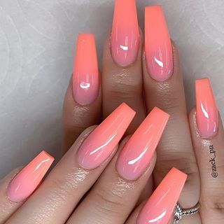 ombre nails coffinnails in 2020  glamour nails natural
