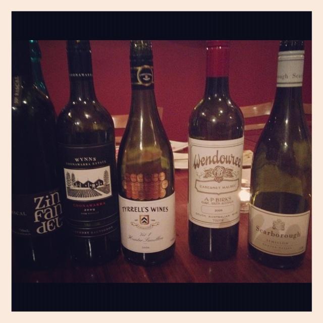A great line up of Australian wines #wine #australia