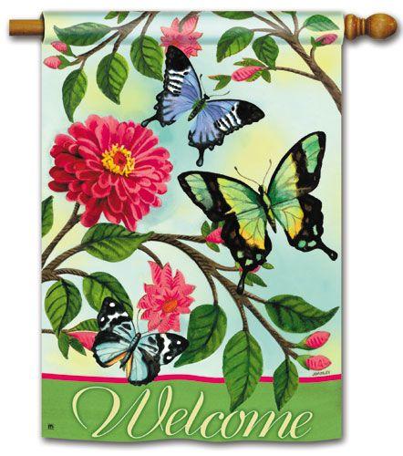 garden house flags. Magnet Works House Flag - Papillons Decorative At Garden Flags GardenHouseFlags T
