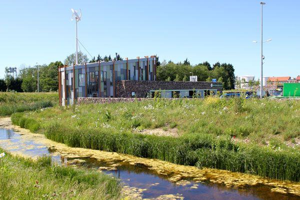 Landscape design for Ecopark Delimes Alphen aan den Rijn by Vollmer & Partners. Architecture by agNOVA architects