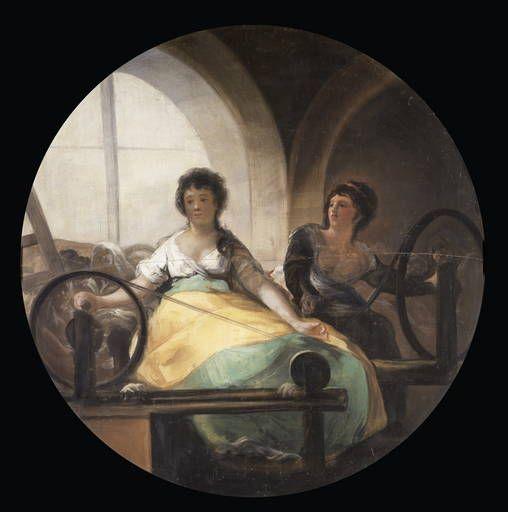 """Francisco de Goya: """"La Industria"""". Tempera on canvas, 227 cm diameter, 1801-05. Museo Nacional del Prado, Madrid, Spain"""