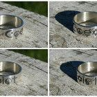 """""""Coexist"""" Sterling silver ring."""