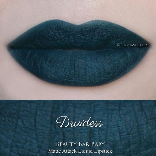 Druidess Liquid Lipstick Matte Attack Liquid Lipstick (58 RON) ❤ liked on Polyvore featuring beauty products, makeup, lip makeup, lipstick, lips, vegan lipstick, matte lipstick, matte finish lipstick y lips makeup