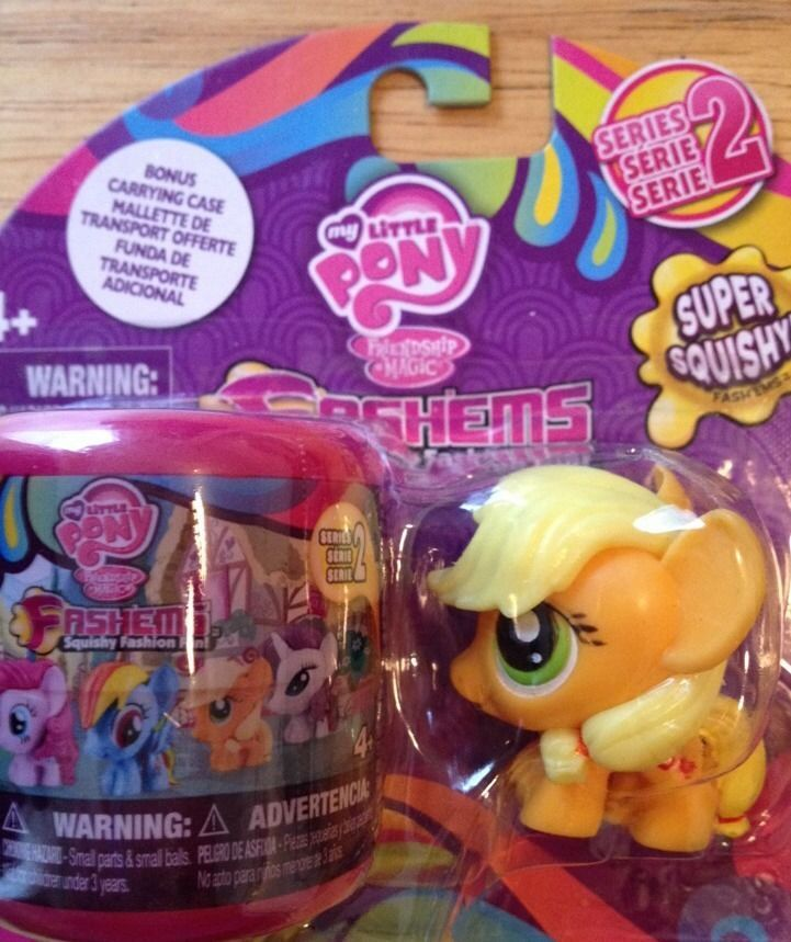 My Little Pony Fashems Applejack Squishy Squashy Series 2 with Carry Case!