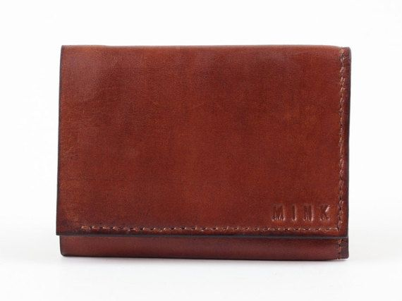 Mens Leather Wallet Mens Leather Wallet Tri-Fold by MinkLeather