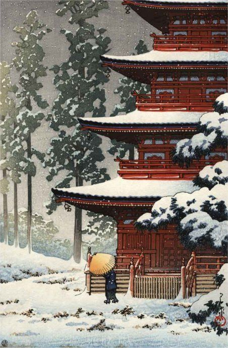 Hasui KAWASE (1883~1957), Japan / woodblock print 川瀬 巴水