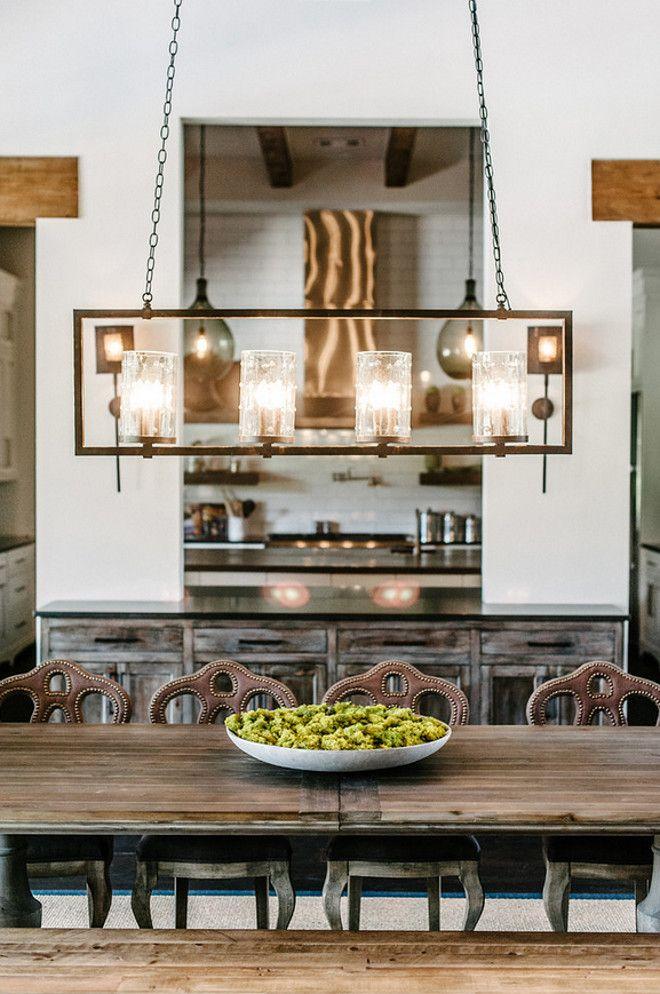 Look how buffet table separates the space.  Farmhouse Interior Design Ideas