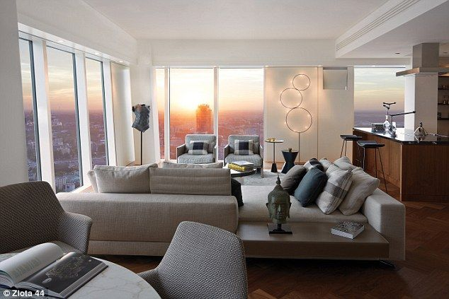There is a choice of interior design schemes available, depending on the size of apartment...