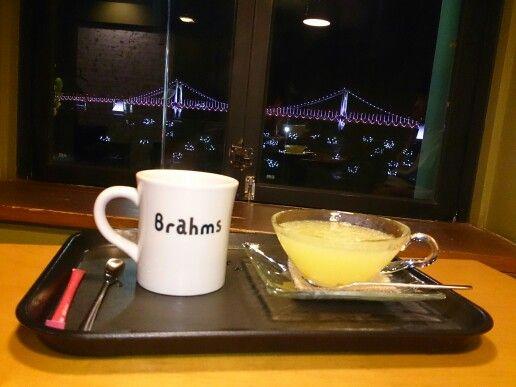 #americano and #lemontea #cafe #brahms #goodview #scenic #gwanganbridge
