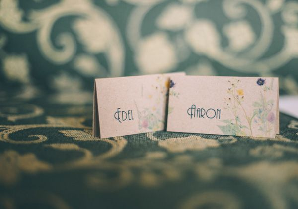 colourful place card settings Wedding Stationery by http://www.rubypeg.com/