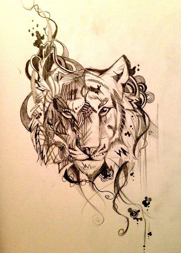 Tiger Design Sketch by Lucky978.deviantart.com on @deviantART