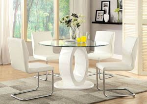 Rounds Kitchen Table Glass Top Marble Base