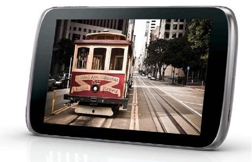 ZTE Optik tablet from Sprint.  Looks cool.  I wonder if this will get an Ice Cream Sandwich update?
