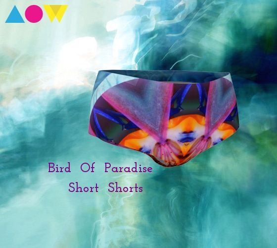 Fun Festival Wear! Super stretchy fabric moves with you. Quick Dry. Great for swimming too! Pairs perfectly with skirts to allow you to feel covered when you wear all your favorite short Summer skirts! https://artofwhere.com/artists/akasha-bloom  #birdofparadise #festivalwear #shortshorts #showyourbutt #skirts #festivaldress #Summer2017 #fun #sexy