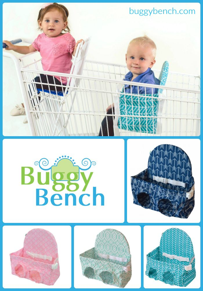 Buggy Bench Shopping Cart Seat is the perfect solution to shopping with two young kids! Purchase yours today at www.buggybench.com