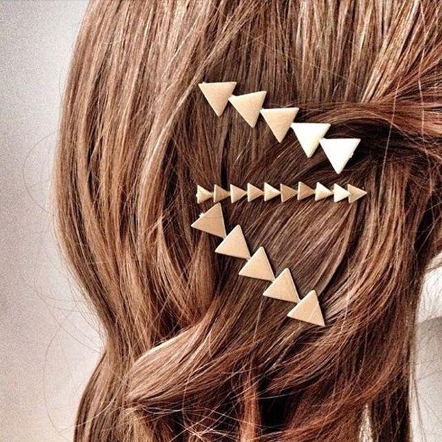 2 Sztuk Proste Geometryczne Element Trójkąta Mody Kobiety Akcesoria Do Włosów Spinki Do Włosów Spinki Do Włosów Spinki NXH1608 Nakrycia Głowy