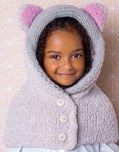 modèle de cagoule à oreilles enfant à tricoter