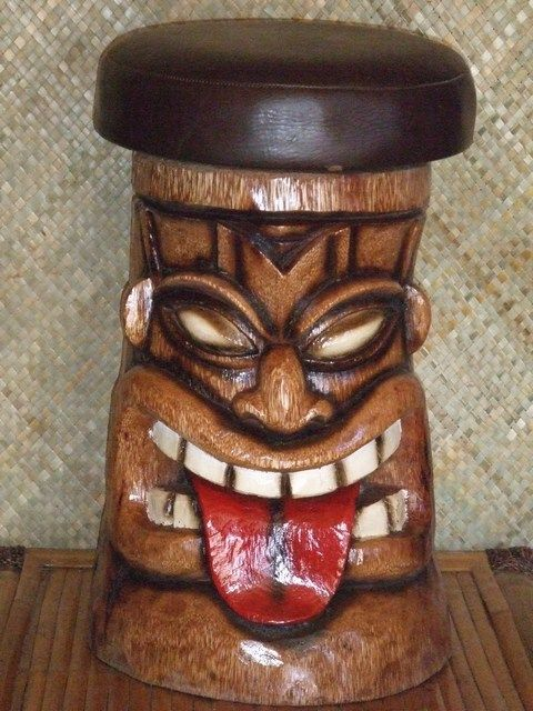 Tiki Bar Stools Tiki Bars Grass Shacks Amp Polynesian