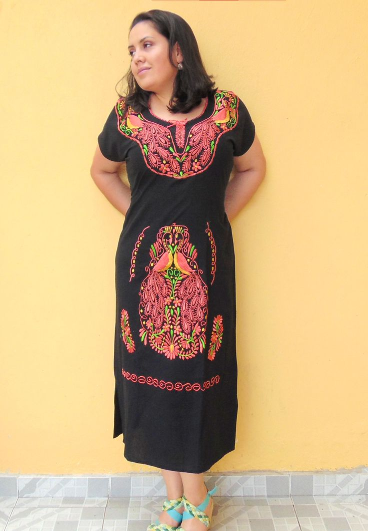 Mexican Dress, Traditional Mexican Dress, Mexican Dress Embroidered, Mexican  Dress For Women,