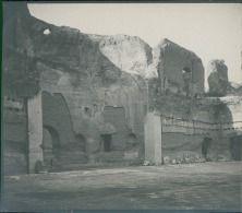 Italia, Roma. Terme de Caracalla, ca. 1905  vintage silver print. Italy.  …