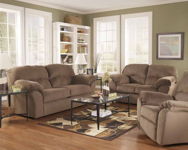 What color living room with tan couches small living room paint colors with brown sofa house - Small space sectional couches paint ...