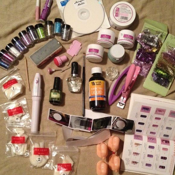 Full Professional Acrylic Nail Kit Great for professional, private practice, doing your own set, or touch ups. Full kit, everything you need and could want! Getting a set of acrylics on costs 40-60$, and fills cost 20-30, that's about 90 bucks a month to get one set on. now you can do it yourself! Perfect for cosmetology students or anyone interested in learning how to do acrylics. Makeup Brushes & Tools