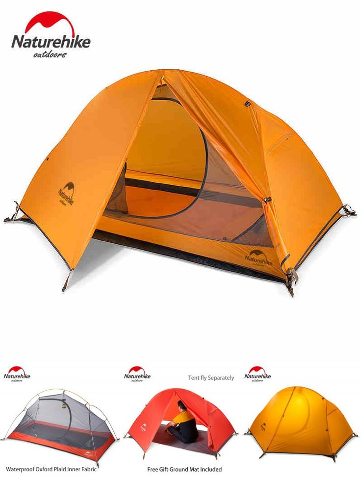[Visit to Buy] Naturehike Ultralight One Person Tent Single Cycling Camping Tent Waterproof Lightweight Portable Hiking 3 Season NH18A095-D #Advertisement