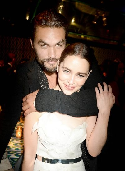 Emilia Clarke In DKNY At The Emmys 2013 - Style Inspiration With Jason Momoa